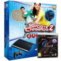PlayStation 3 (500G) Super Slim+Gran Turismo 5+Праздник Спорта 2+Starter Pack