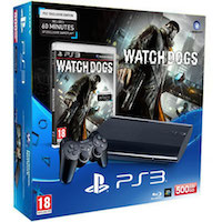 PlayStation 3 (500G) Super Slim+Watch_Dogs