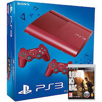 PlayStation 3 (12G) Super Slim+Controller Red+Одни из Нас