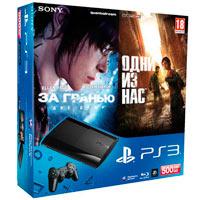 PlayStation 3 (500G) Super Slim+За гранью: Две души+Одни из Нас