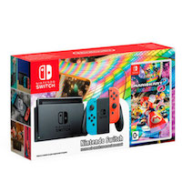 Nintendo Switch (NeonRed/NeonBlue) + Mario Kart 8 Deluxe