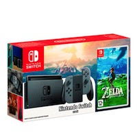 Nintendo Switch (Grey) + The Legend of Zelda: Breath of the Wildi
