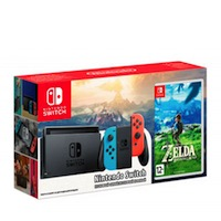 Nintendo Switch NeonRed/NeonBlue + The Legend of Zelda: Breath of the Wildi