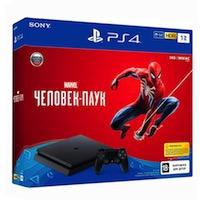 PlayStation 4 Slim (1TB)+Человек-паук