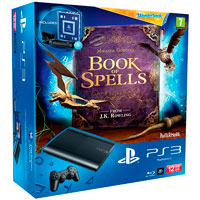 PlayStation 3 (12G) Super Slim+Книга заклинаний+Wonderbook+Starter Pack