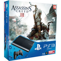 PlayStation 3 (500G) Super Slim+Assassin's Creed III