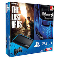 PlayStation 3 (500G) Super Slim+Gran Turismo 6+The Last of Us