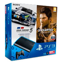 PlayStation 3 (500G) Super Slim+GT5+Uncharted 3