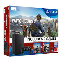 PlayStation 4 Slim (1TB)+Watch Dogs 2+Watch Dogs