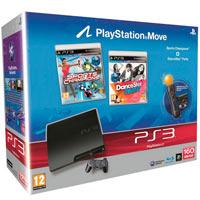 PlayStation 3 (160G)+Праздник Спорта+DanceParty+Starter Pack