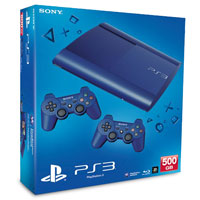 PlayStation 3 (500G) Super Slim+Controller Blue