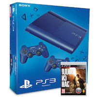 PlayStation 3 (12G) Super Slim+Controller Blue+Одни из Нас