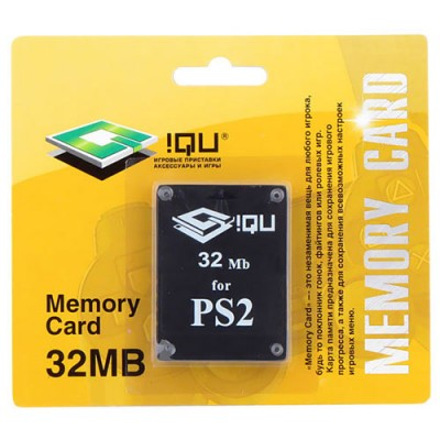 PS 2 Memory Card 32MB картон (iQu)