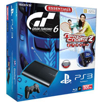 PlayStation 3 (500G) Super Slim+Gran Turismo 6+Праздник Спорта 2+Starter Pack