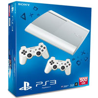 PlayStation 3 (500G) Super Slim+Controller White