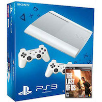 PlayStation 3 (12G) Super Slim+Controller White+Одни из Нас