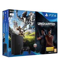 PlayStation 4 Slim (1TB)+Horizon Zero Dawn+Uncharted: Утраченное наследие