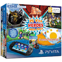 PS Vita Slim (2016) Wi-Fi Black+PSN код активации Heroes MegaPack+PS Vita Memory Card (РСТ) 8G