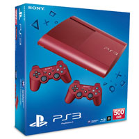 PlayStation 3 (500G) Super Slim+Controller Red