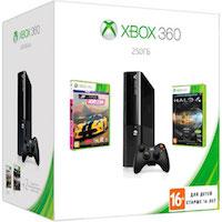 XBox 360E 250G (Slim)+Forza Horizon+Halo 4 GOTY